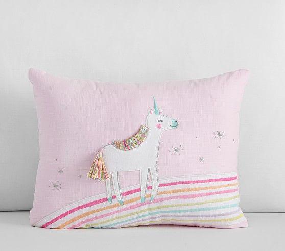 Rainbow Unicorn Quilt Unicorn Pillow Kids Pillows