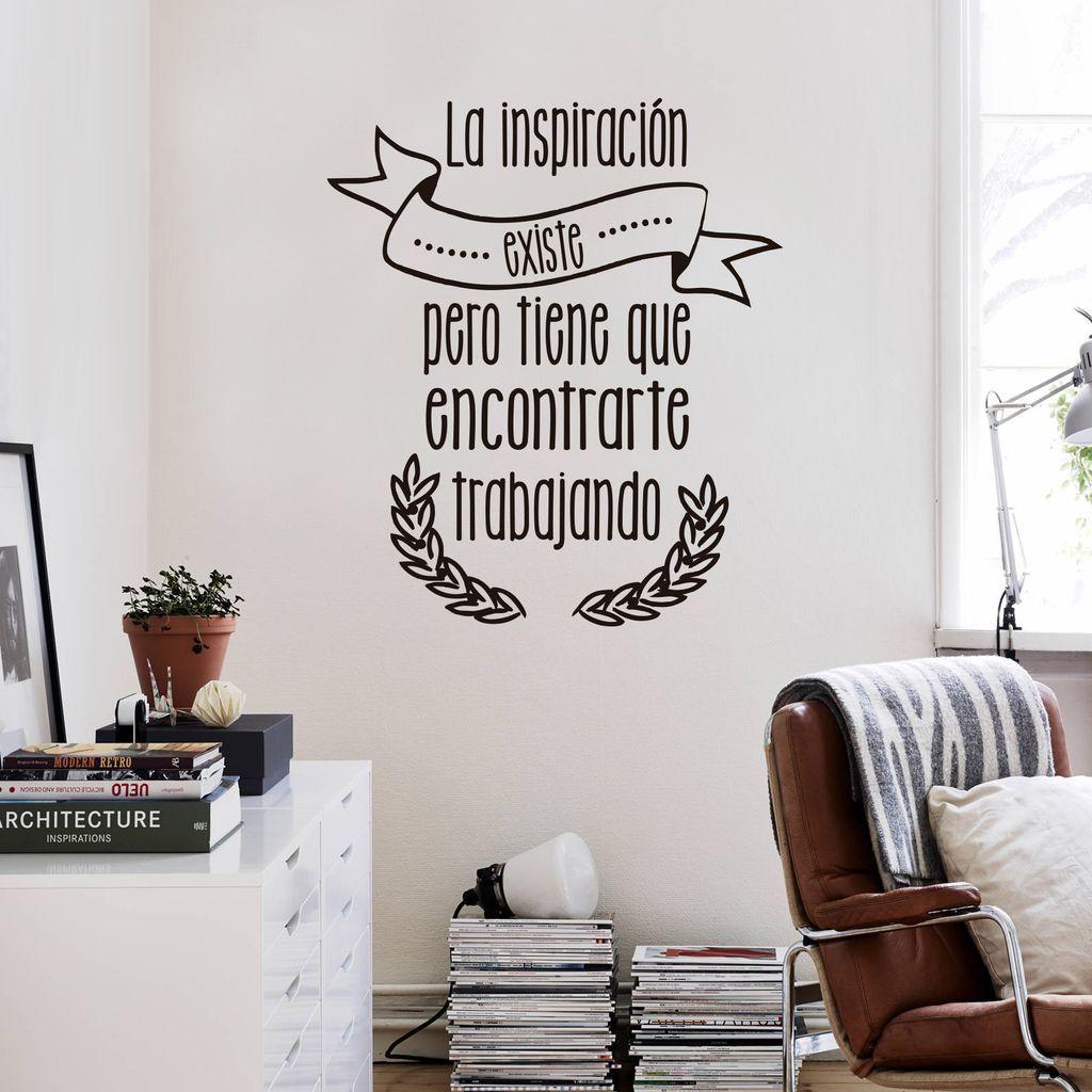 Fr04 La Inspiración Comprar En Vinilo Hogar Frase