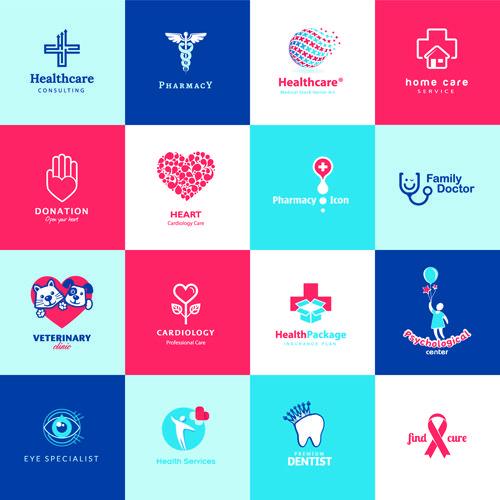 Creative Medical And Healthcare Logos Vector Set 02 Healthcare Logo Health Logo Medical Logo Design