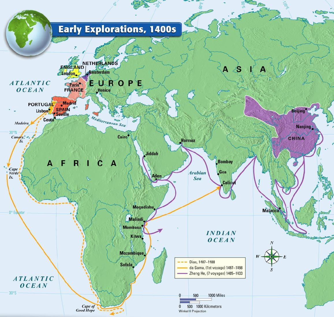 the world in the 1400s The age of exploration (also called the age of discovery) began in the 1400s and continued through the 1600s it was a period of time when the european nations began.