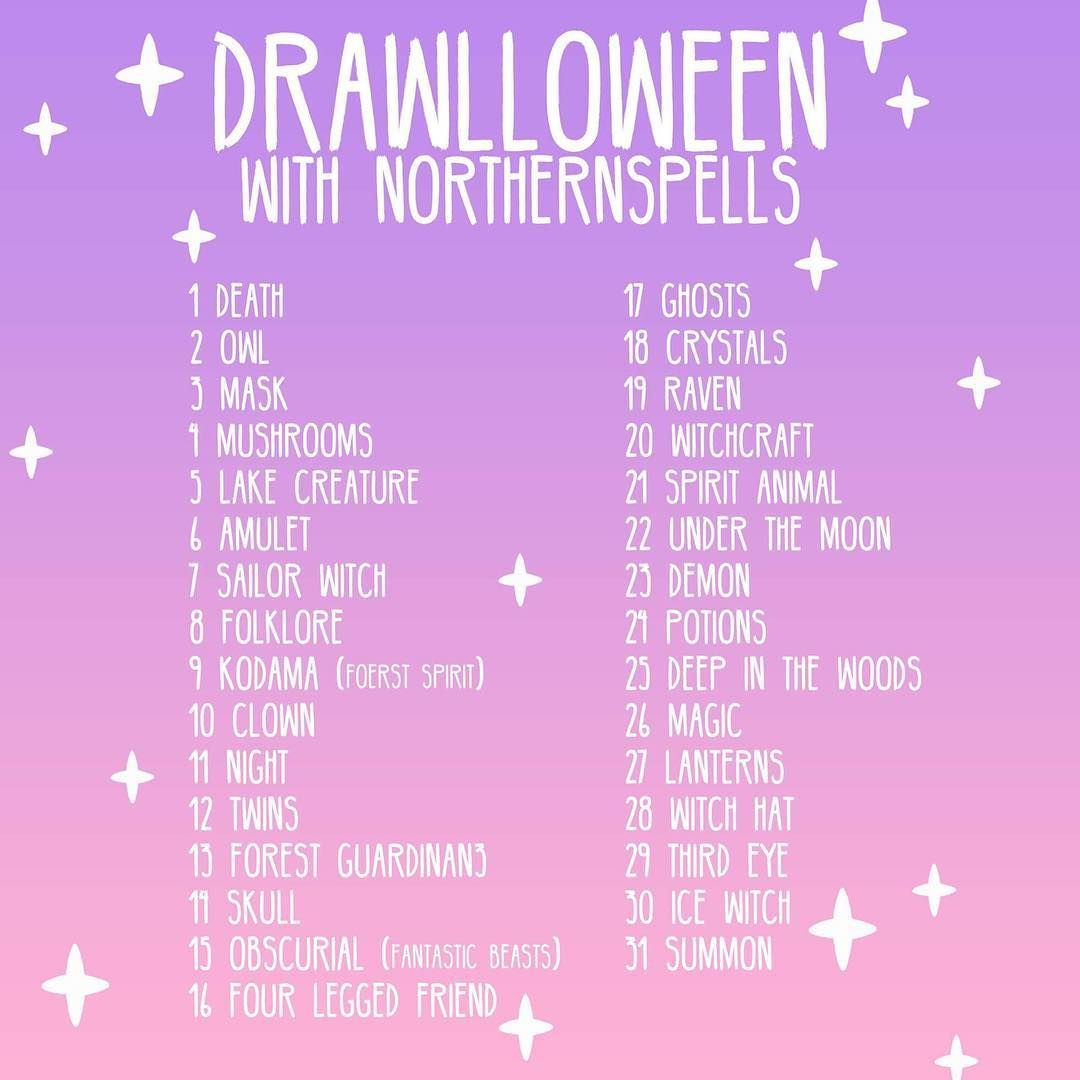 It's tomorrooowwww! I'm home sick so I hope it won't stop me from the big start of Drawlloween  So happy to see how many of you that want to participate! I'm looking forward to seeing your creations! (Remember to tag them with; #northernspellsdrawlloween or else I won't find them )  My faves each day will be featured in my story, and I'll pick some of the participants to get some Halloween pins to! (Simply because I love to have a reason to give you lovely guys stuff!) ✨✨ So get your i... #drawingprompts