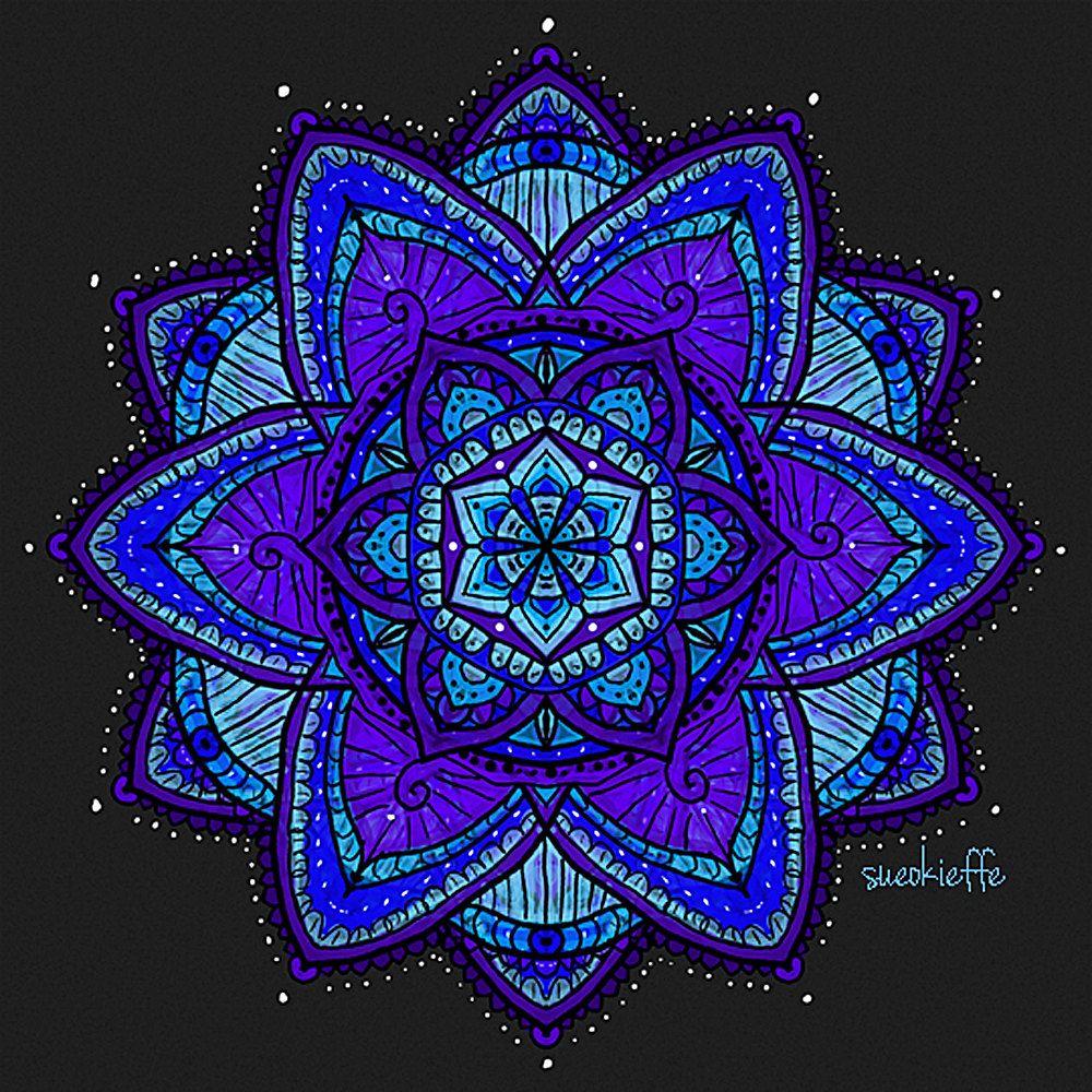 Mandala Art - Digital Mandala Art - Spiritual Art - Meditation Art - Sacred Geometry - Mehndi Inspired - Prayers Answered by SacredCircleMandalas on Etsy.