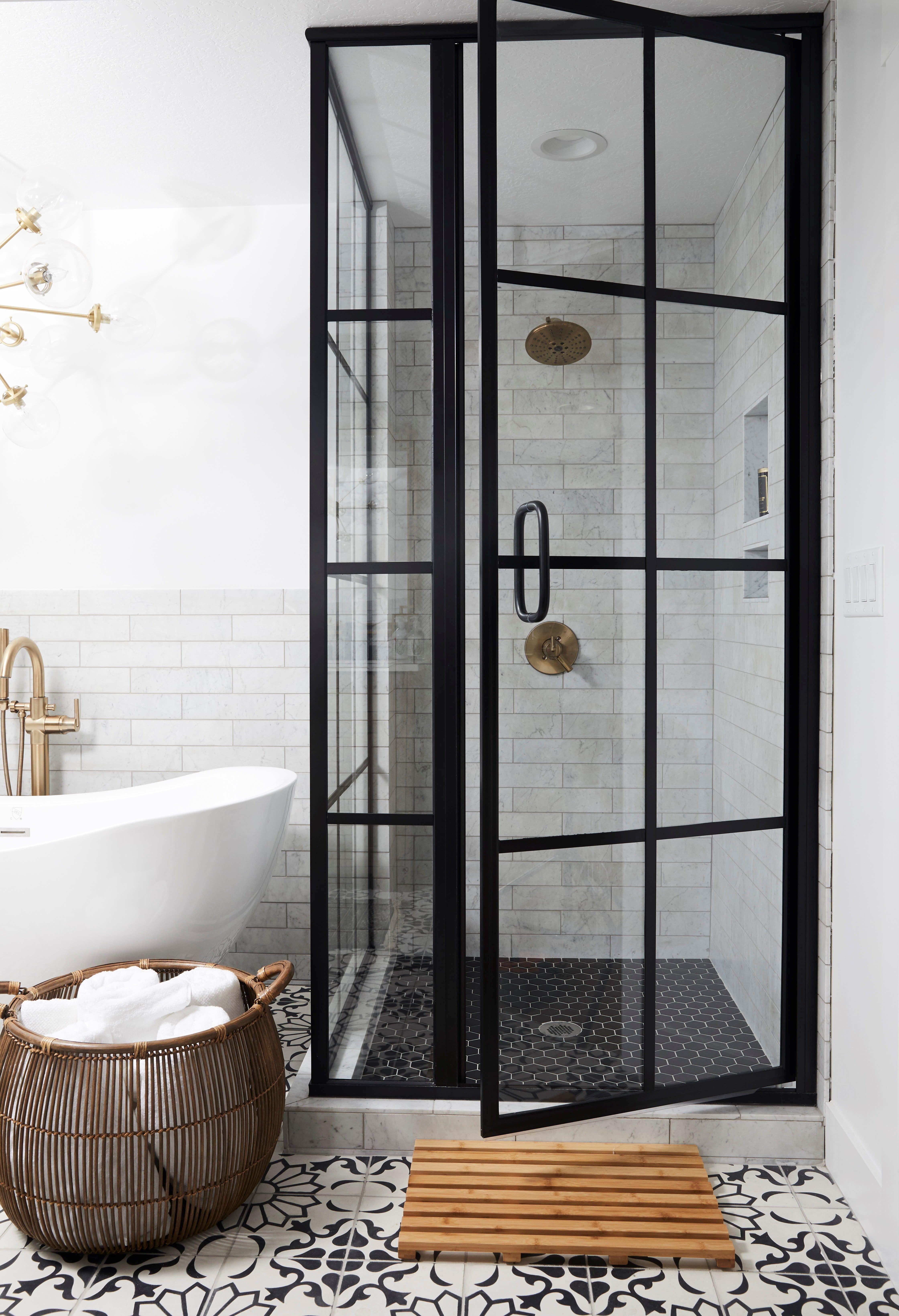 Black Shower Door Black French Door Shower Door Modern