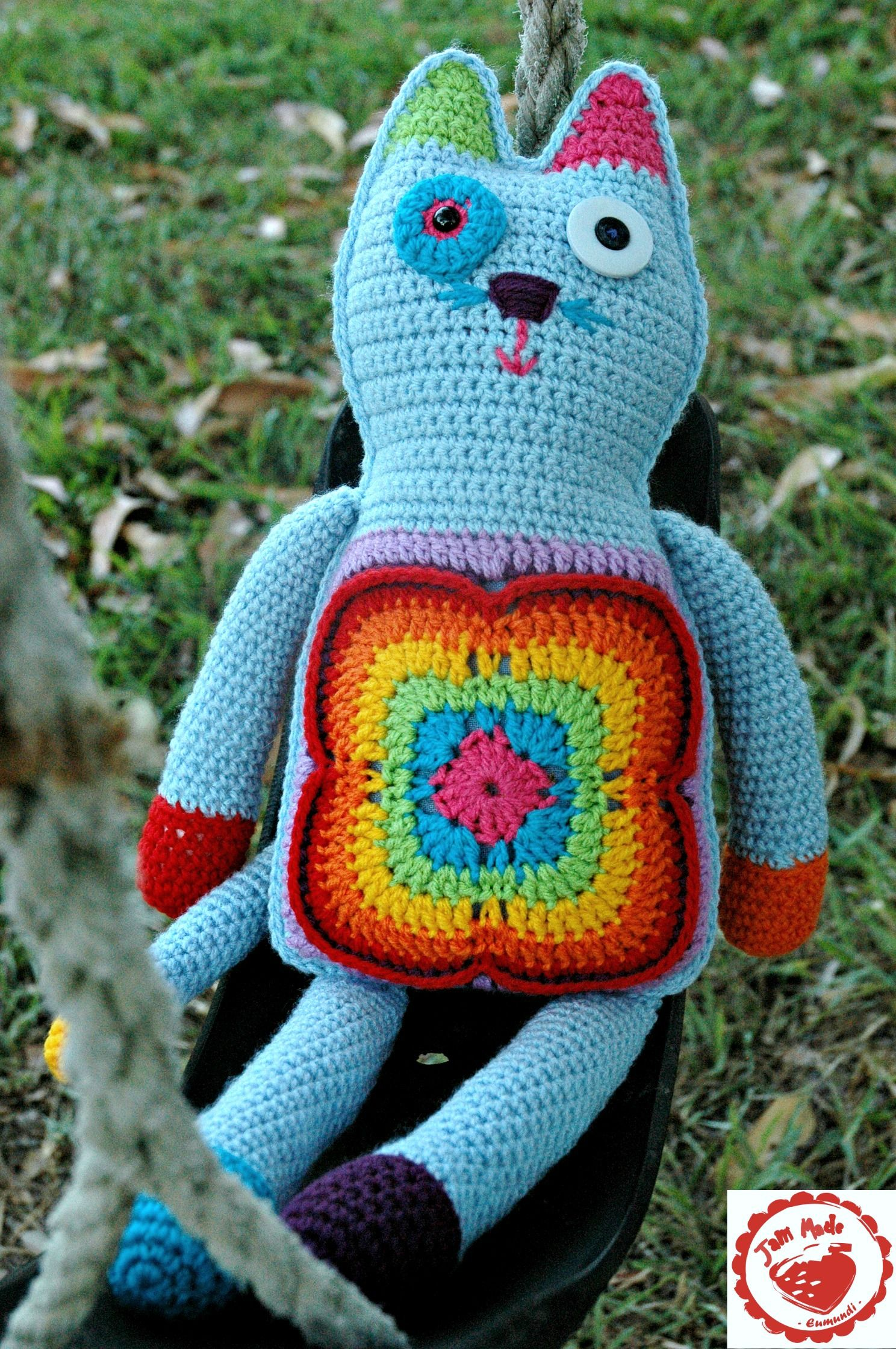 Granny Cat - Free pattern and tutorial to make your own.Jam made ...