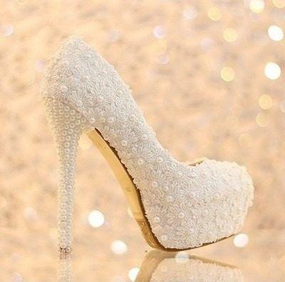 de930bb38 sapato salto alto cristal pérola noiva casamento importado | Sempre ...