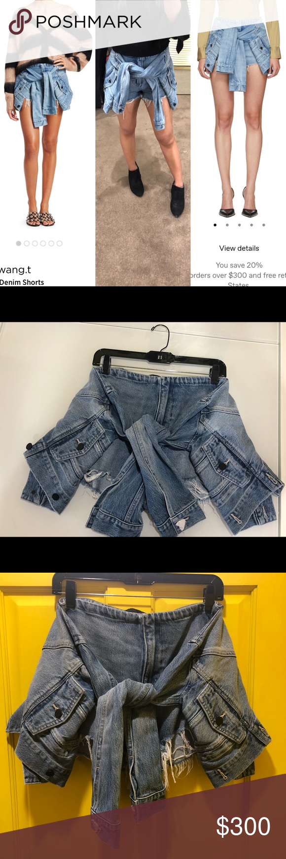 bd93568b4d NWT Alexander Wang tie front jean shorts 29 Brand new with tag Faux jacket  tie waist