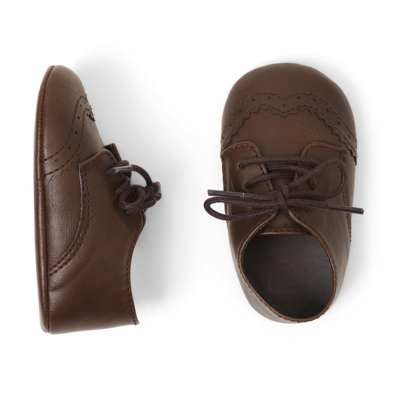 Accessories Chocolate Oxford Crib Shoe