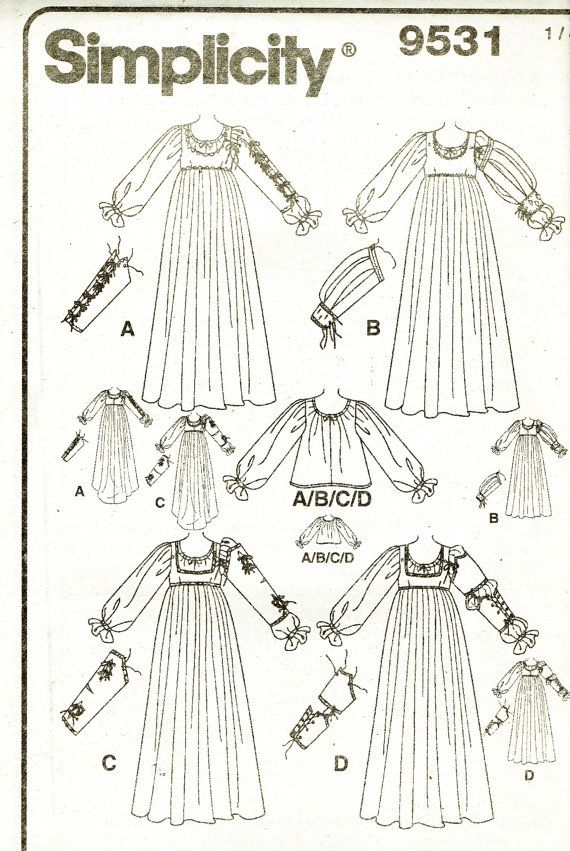 Simplicity 9531 Ladies Renaissance '4' Costume by TheAtticofKitsch