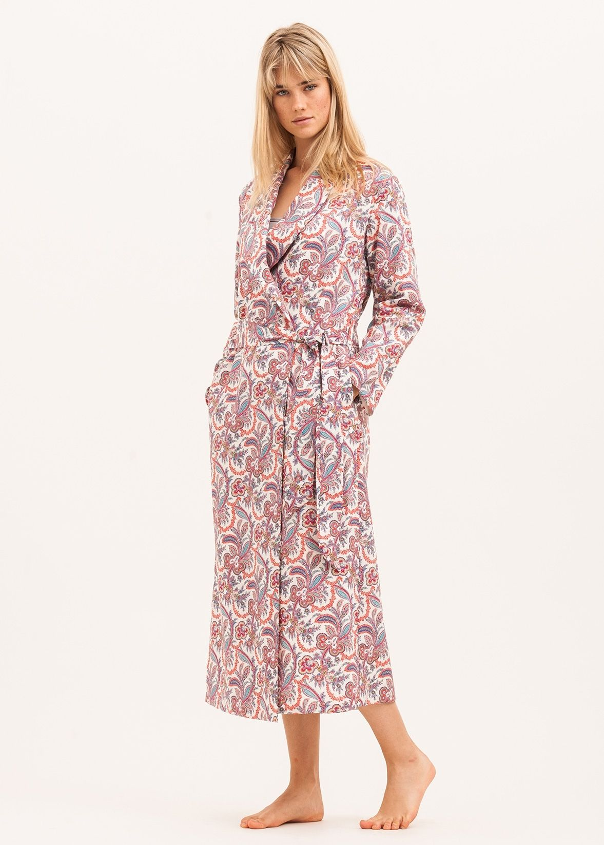 Luxury full length dressing gown in a stunning Liberty paisley print ...