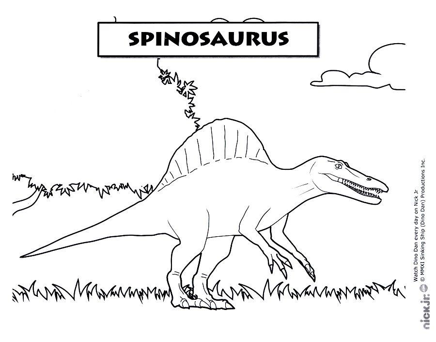 espinosaurio para colorear
