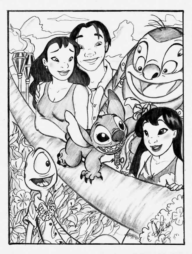 The ohana portrait by jackfreak1994 on DeviantArt | Stitch | Pinterest