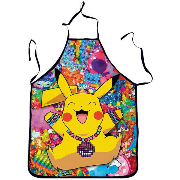 Yellow Cute Pikachu Printed Lovers Apron (€5,19) ❤ liked on Polyvore featuring home, kitchen & dining, aprons, yellow and yellow apron