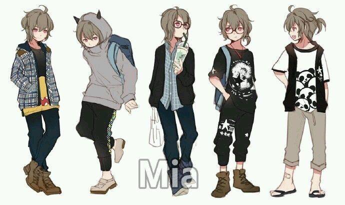 Anime Boy Character Design : Я Художник ropa anime character design and characters