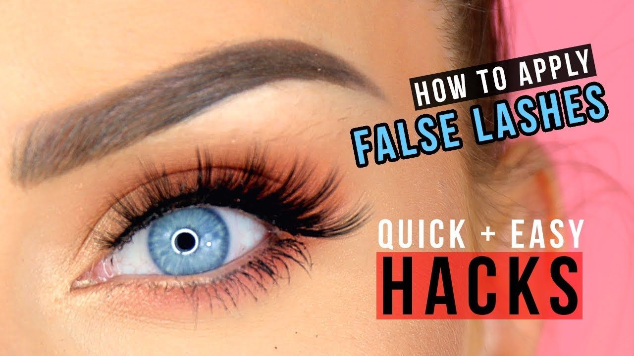 The QUICKEST + EASIEST Way to Apply False Lashes for ...