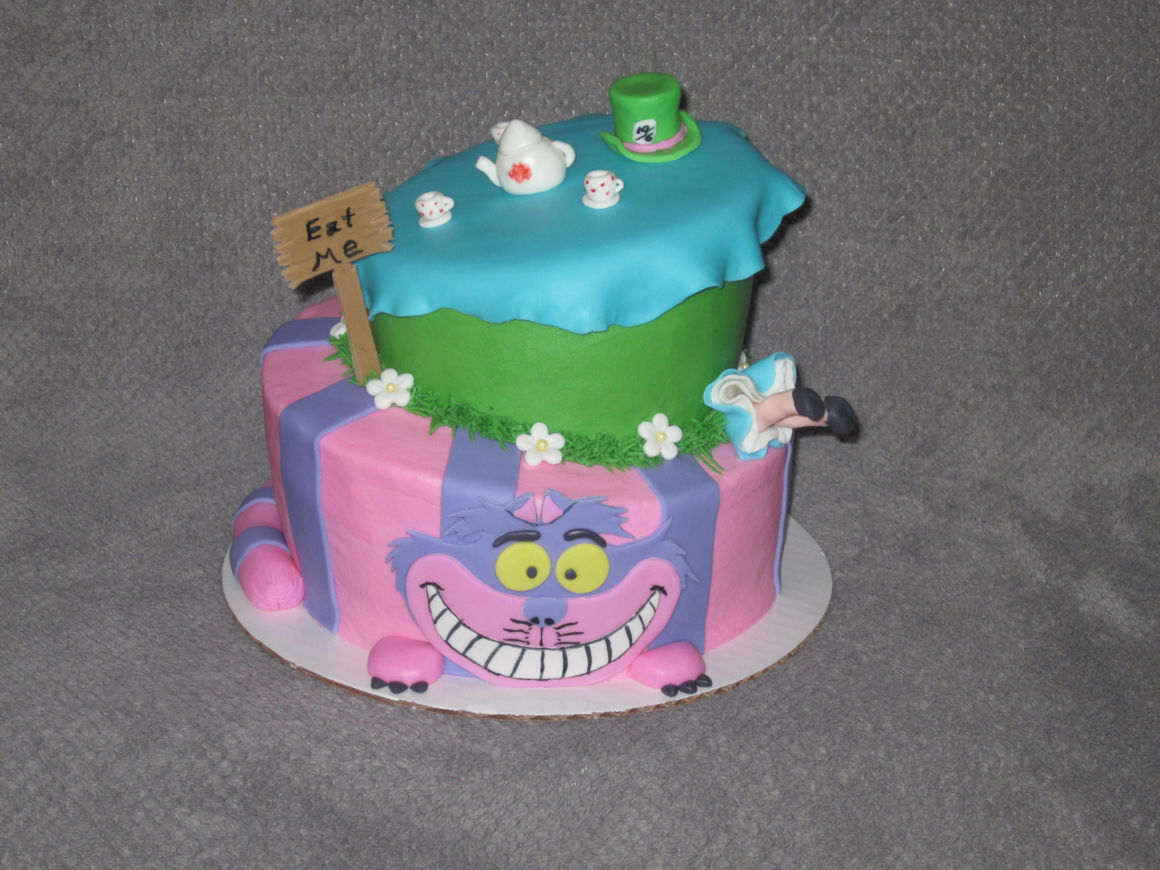 Alice in Wonderland/Mad Hatter Tea Party themed cake