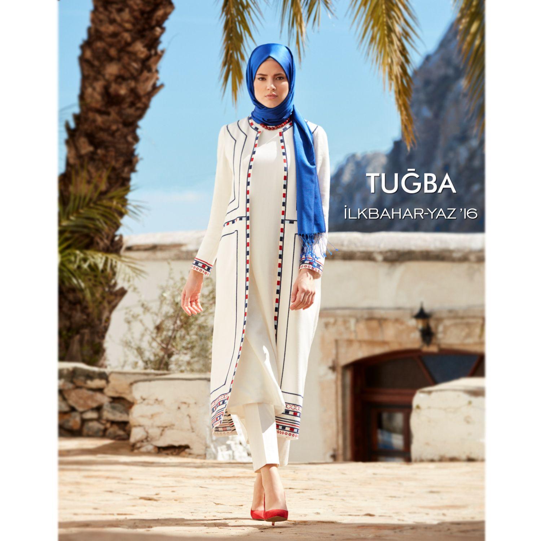 Ensemble blanc bleu tugba hijab pinterest girl hijab muslim