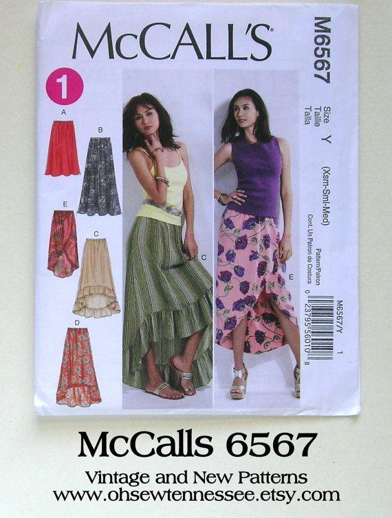 Super Feminine Ladies\' Skirts - McCalls 6567 - New Sewing Pattern ...