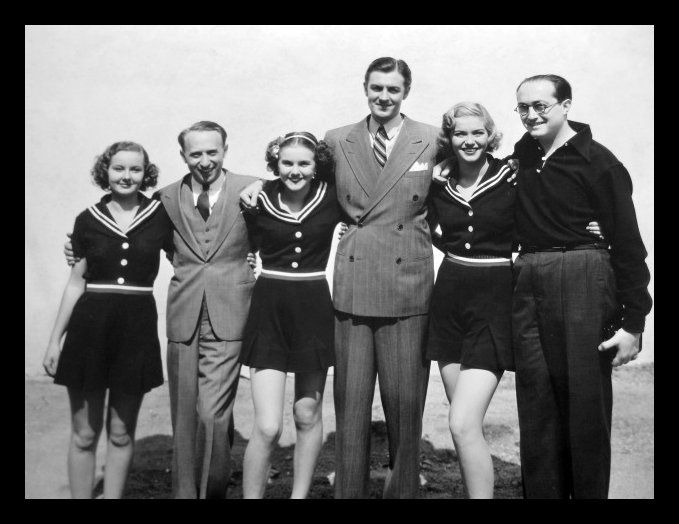 Barbara Read, Joe Pasternak, Deanna Durbin, John King, Nan Grey & Henry  Koster.   Classic films, Classic movies, Deanna durbin