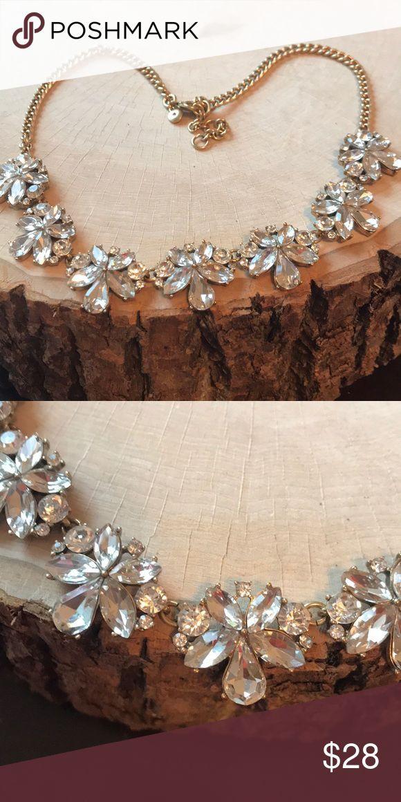 J Crew necklace J Crew necklace Brass epoxy glass stones Sparkling gems wi  My Po J Crew necklace J Crew necklace Brass epoxy glass stones Sparkling gems wi  My Posh Clos...