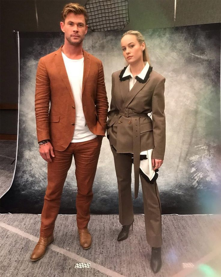 Chris Hemsworth And Brie Larson Suit Up For 'Avengers