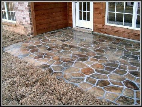 Gorgeous Concrete Patio Floor Paint Ideas Painted Concrete Patio ...
