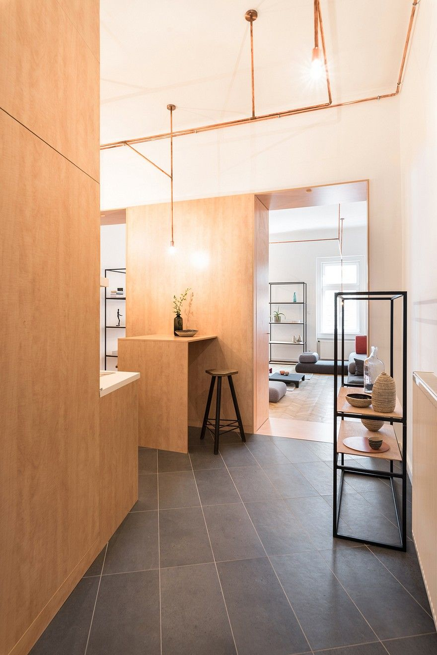 Inexpensive Room Separators Exit Coper: Flat Renovation In Budapest With Natural Materials
