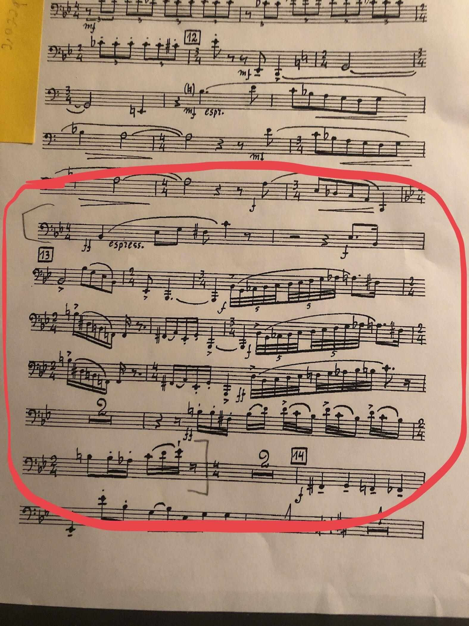 5Th Symphony prokofiev's 5th symphony-bassoon excerpt   bassoon, sheet