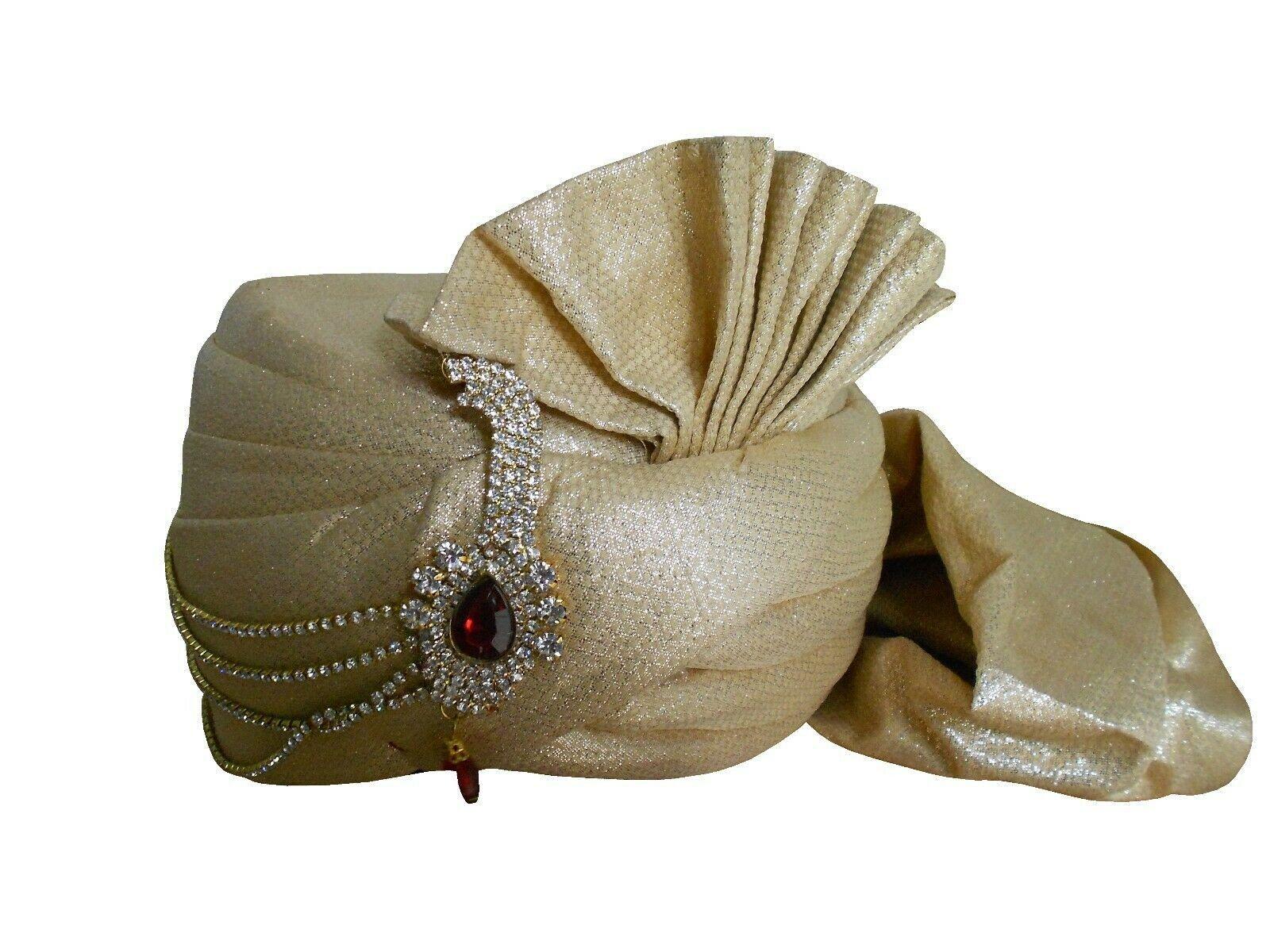 Men Hat Indian Turban Traditional Sherwani Safa Handmade New Top Hat Pagri Pag