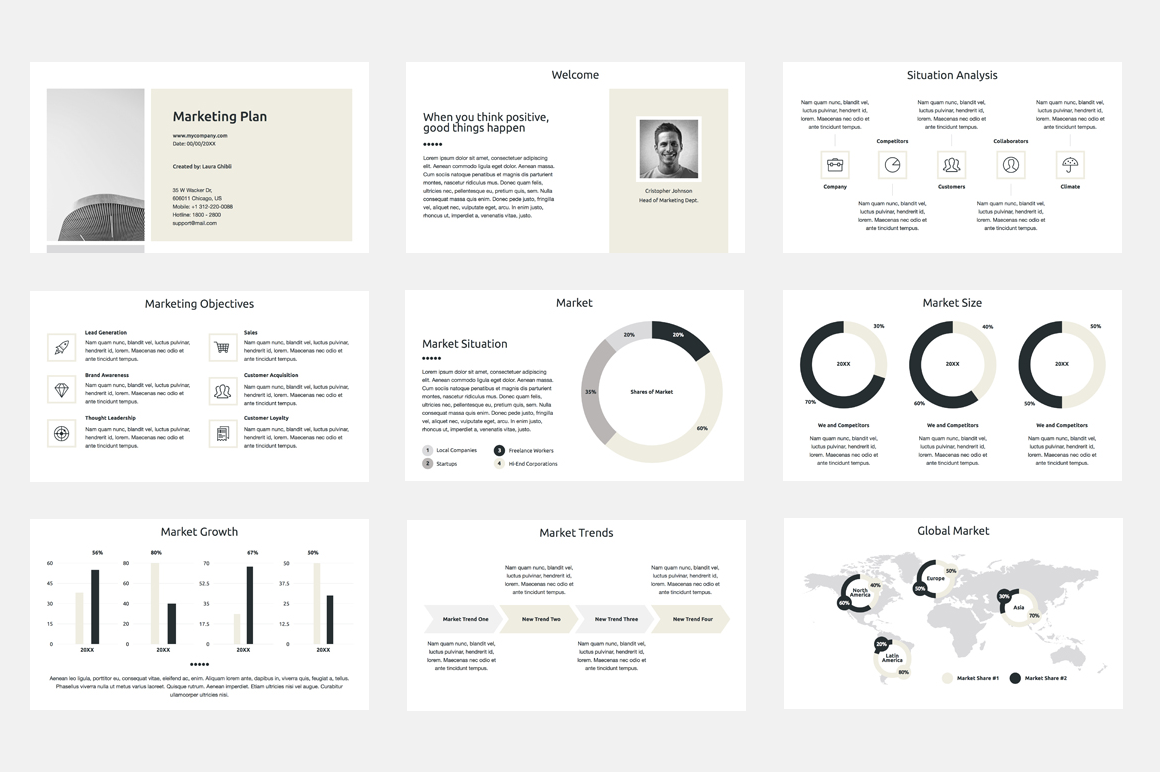 Marketing Plan PowerPoint Presentation Template By