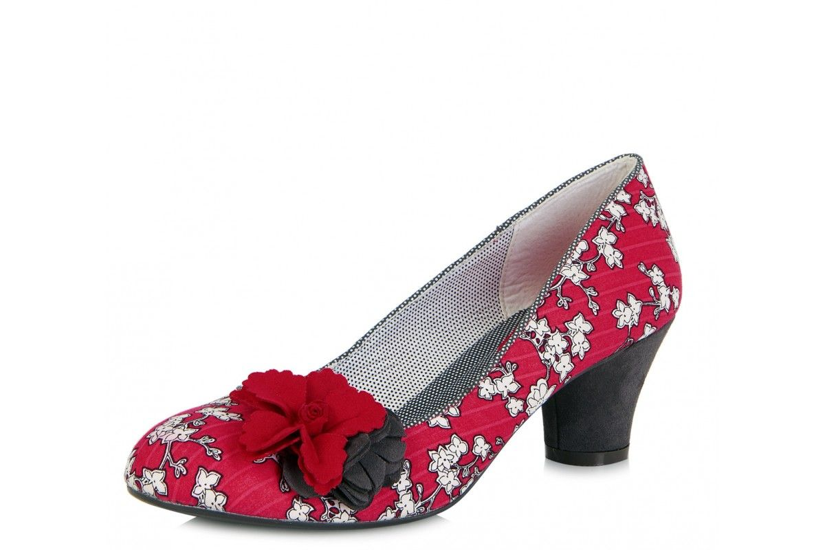 Ruby Shoo Petra Burgundy Femmes Mid Heels Court Chaussures