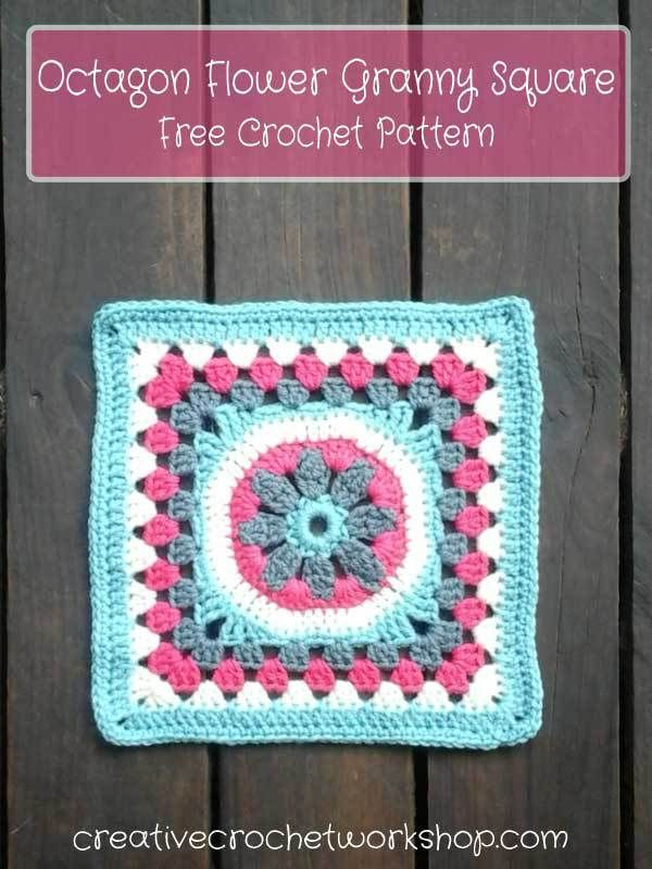 Free crochet pattern: Octagon Flower Granny Square by Creative ...