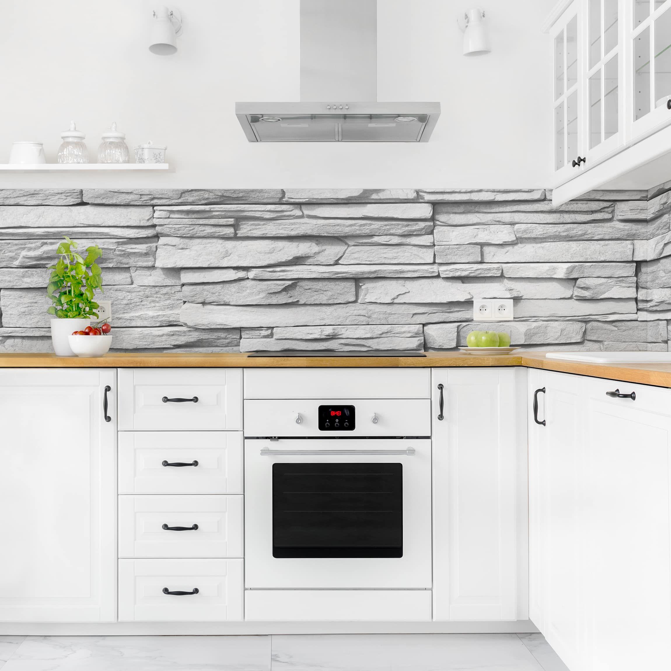 Rivestimento cucina - Effetto pietra Ashlar Masonry | Cucina ...
