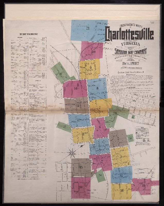 Complete 1907 Sanborn Insurance Maps Of Charlottesville And Albemarle County From Insurance Maps Of Charlottesville University Of Virginia Virginia Shenandoah