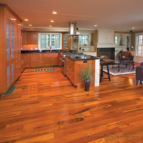 brazilian koa flooring. i can't wait to have this installed on our