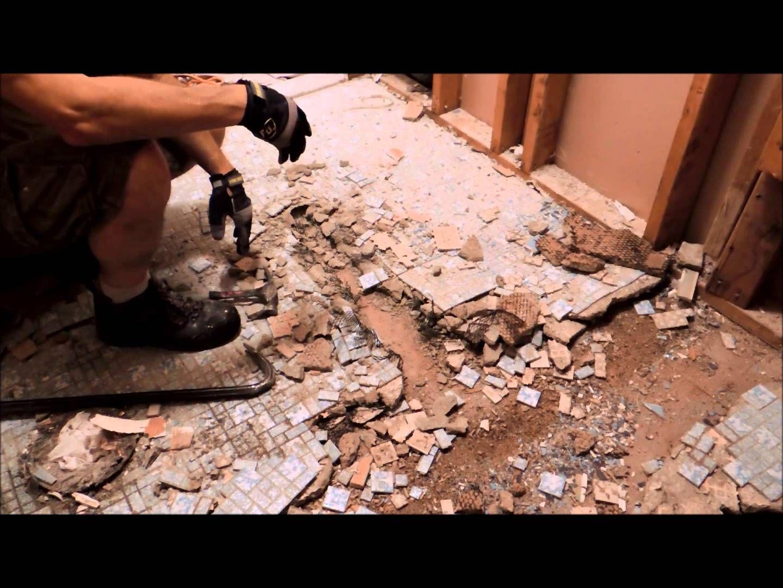 How To Remove A Mud Job Tile Floor   Tile floor, Mud, Flooring
