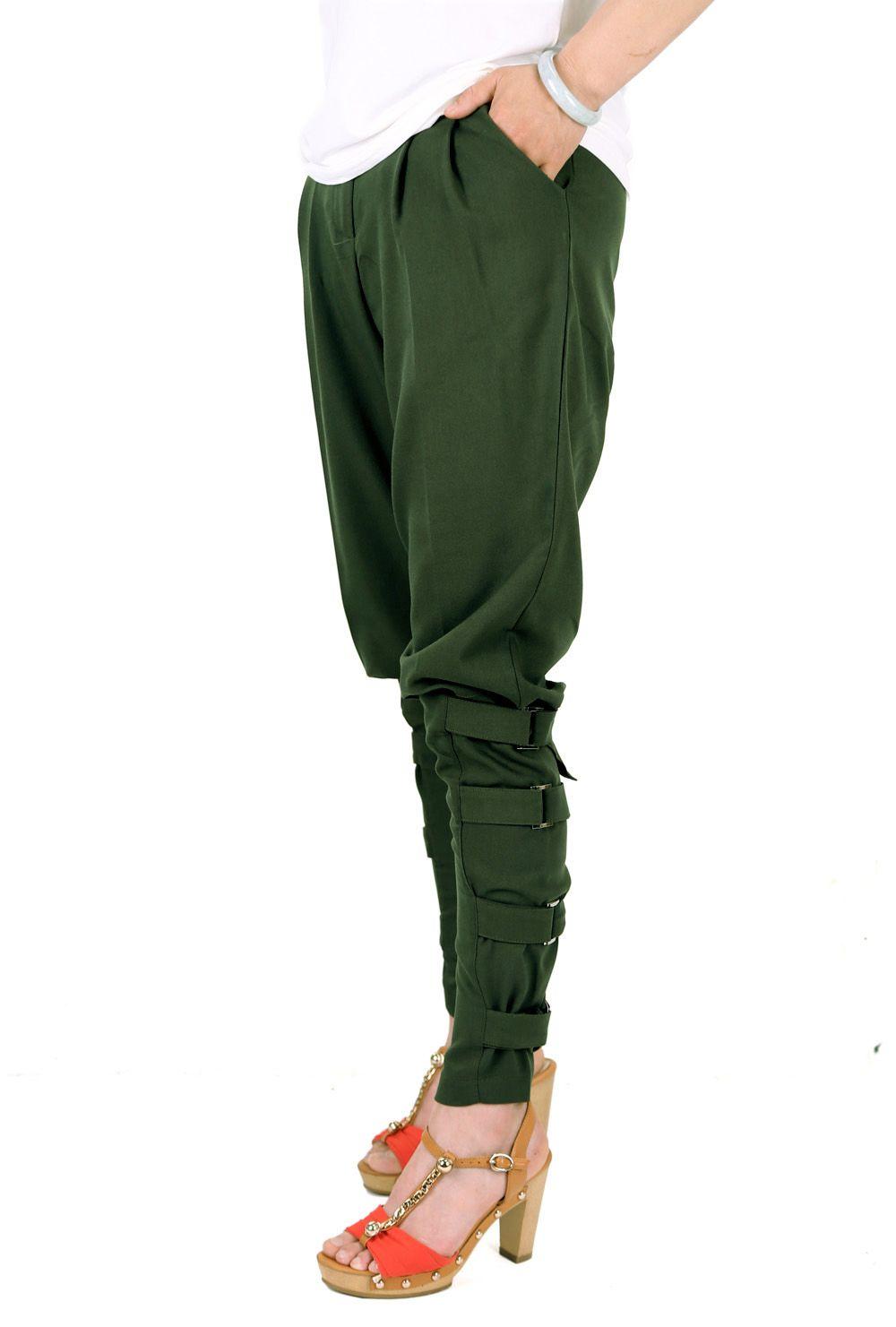 4b5a655f Preself fall Casual Plus size women ArmyGreen pant woman design ...