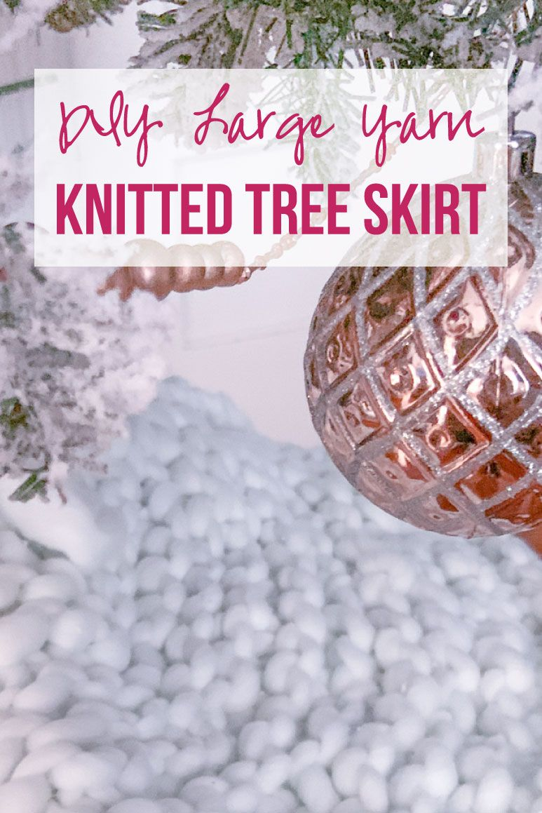 DIY Large Yarn Knitted Tree Skirt Happily Ever After