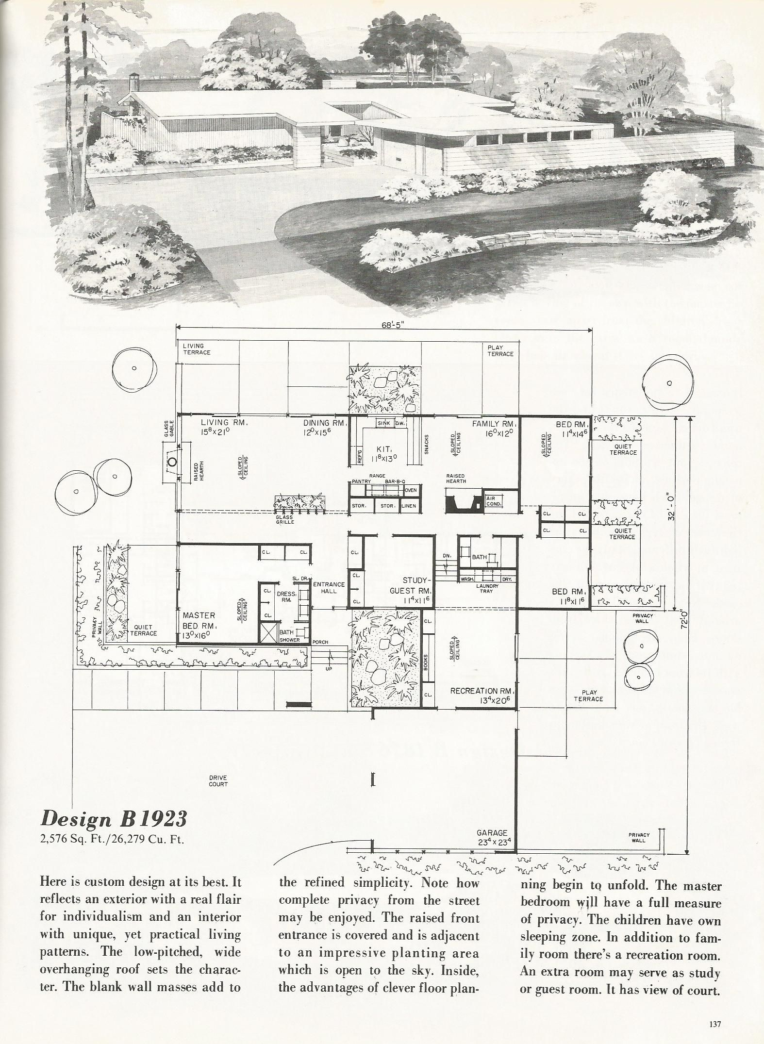 vintage house plans mid century homes dream home pinterest