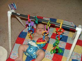 Little Hands, Big Work: Cheap Baby Gym!