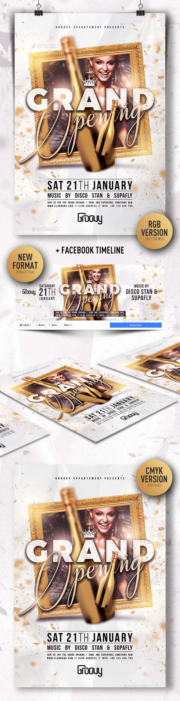 Grand Opening V  Grand Opening Flyer Template And Template