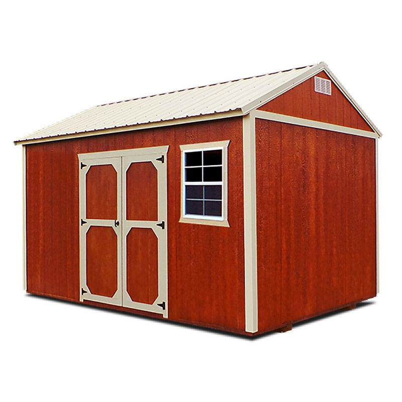 Side Utility Shed You Can Get It In 8ft 10ft And 12ft Widths Standard Features 46 Inch Wood Door For 8ft Wide B Backyard Storage Sheds Shed Siding Options