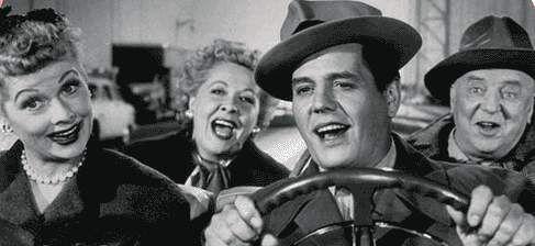 """""""I Love Lucy"""" (1951-57)  Lucille Ball as Lucy Ricardo  Vivian Vance as Ethel Mertz  Desi Arnaz as Ricky Ricardo  William Frawley as Fred Mertz"""