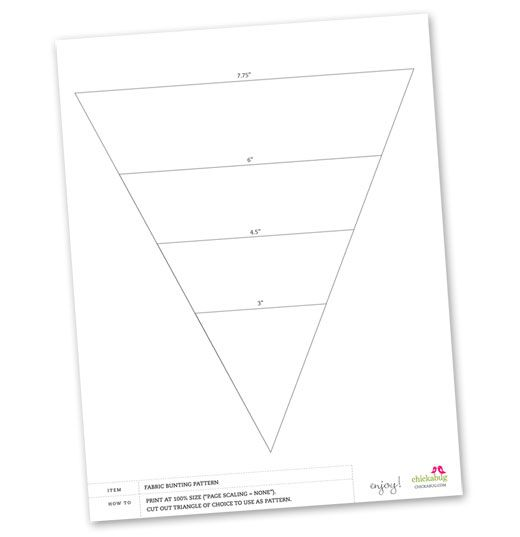 I Know Bunting Is Basically Just A Triangle But It S Still Helpful To Have Pattern For Free