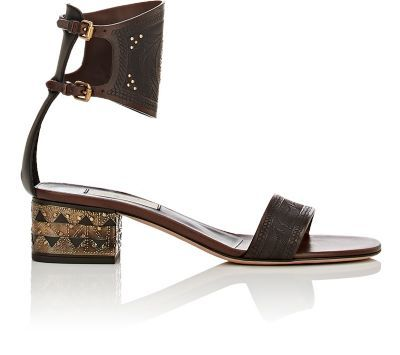 5932fa816 Valentino Studded Ankle-Cuff Sandals at Barneys New York