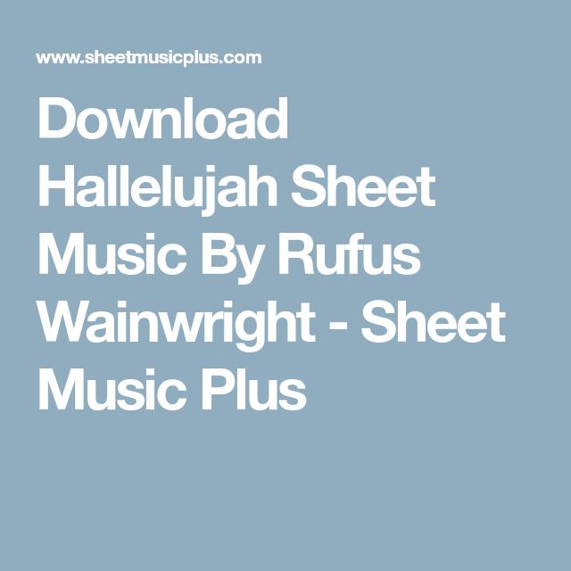 Download Hallelujah Sheet Music By Rufus Wainwright - Sheet Music ...