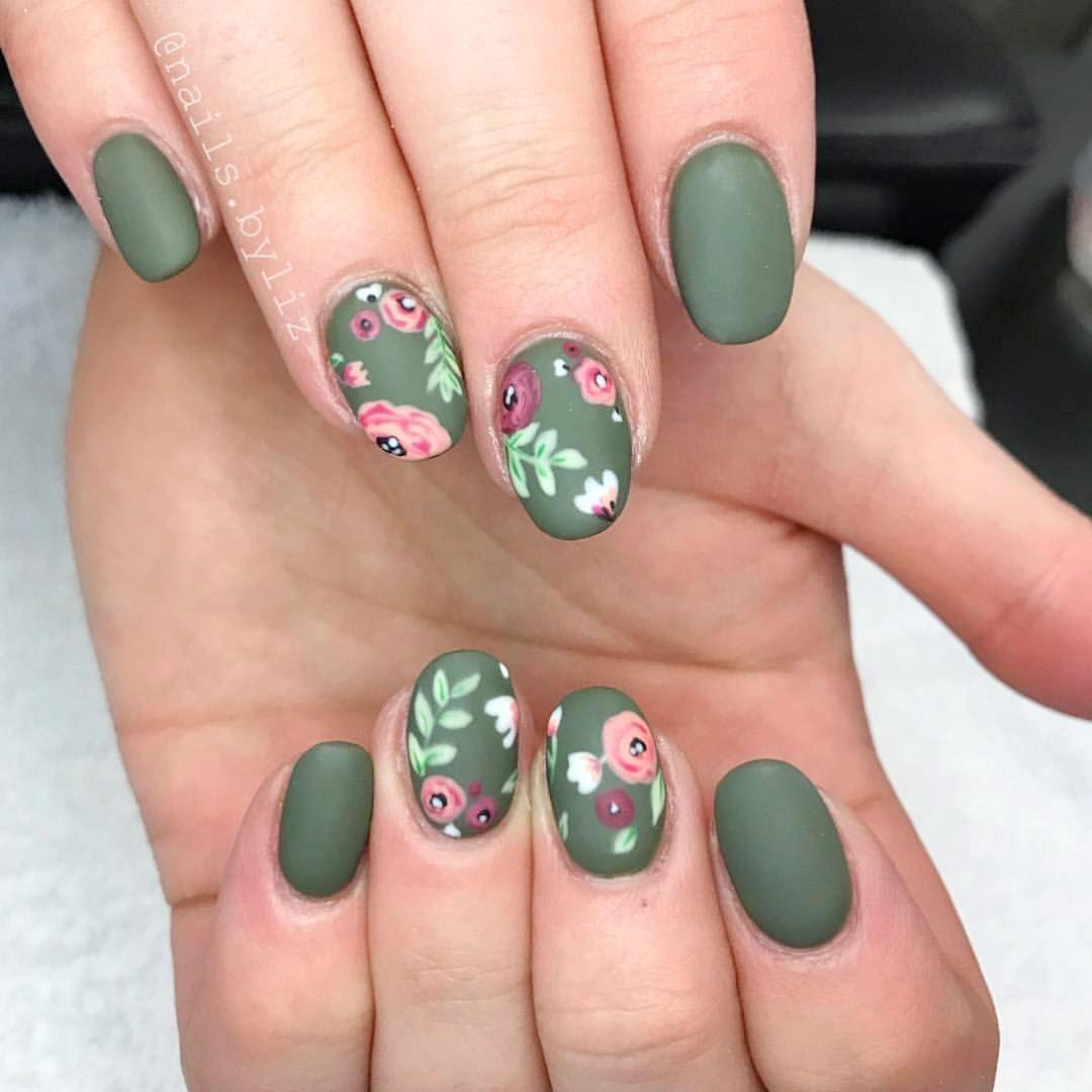 Easy Flower nail art design idea   short nails   Feet nail