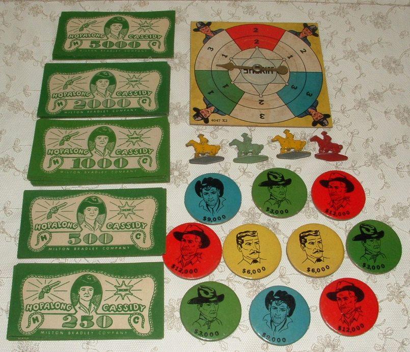 Hopalong Cassidy game pieces Game pieces, Hopalong