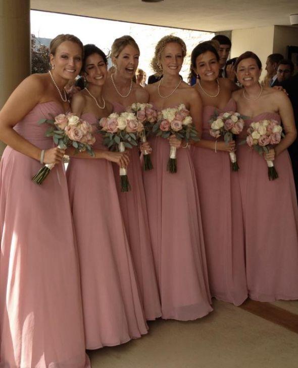 Allure bridesmaids dress 1221 long chiffon maxi