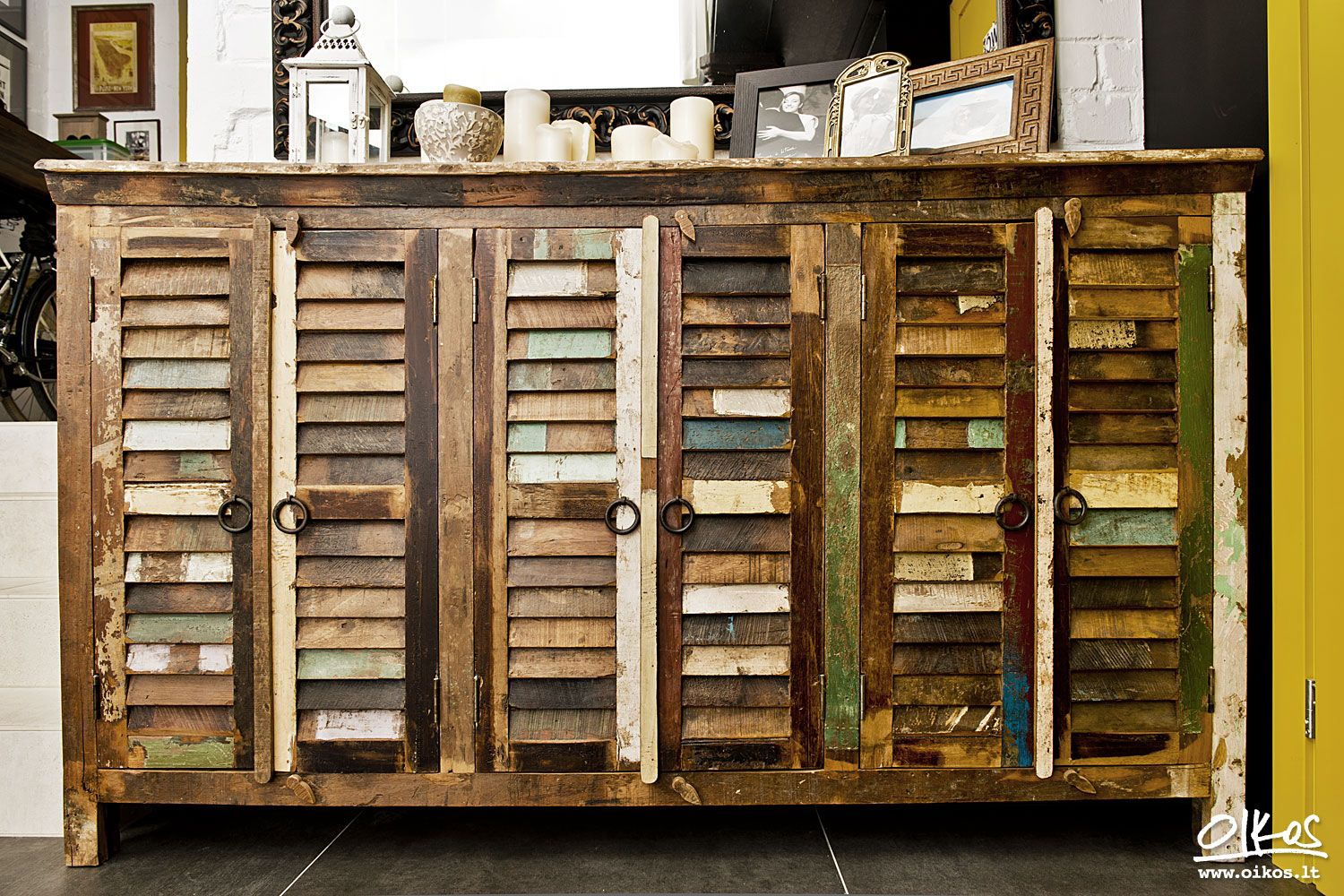 Reclaimed Wood Furniture From Crete Cabinet Fortezza