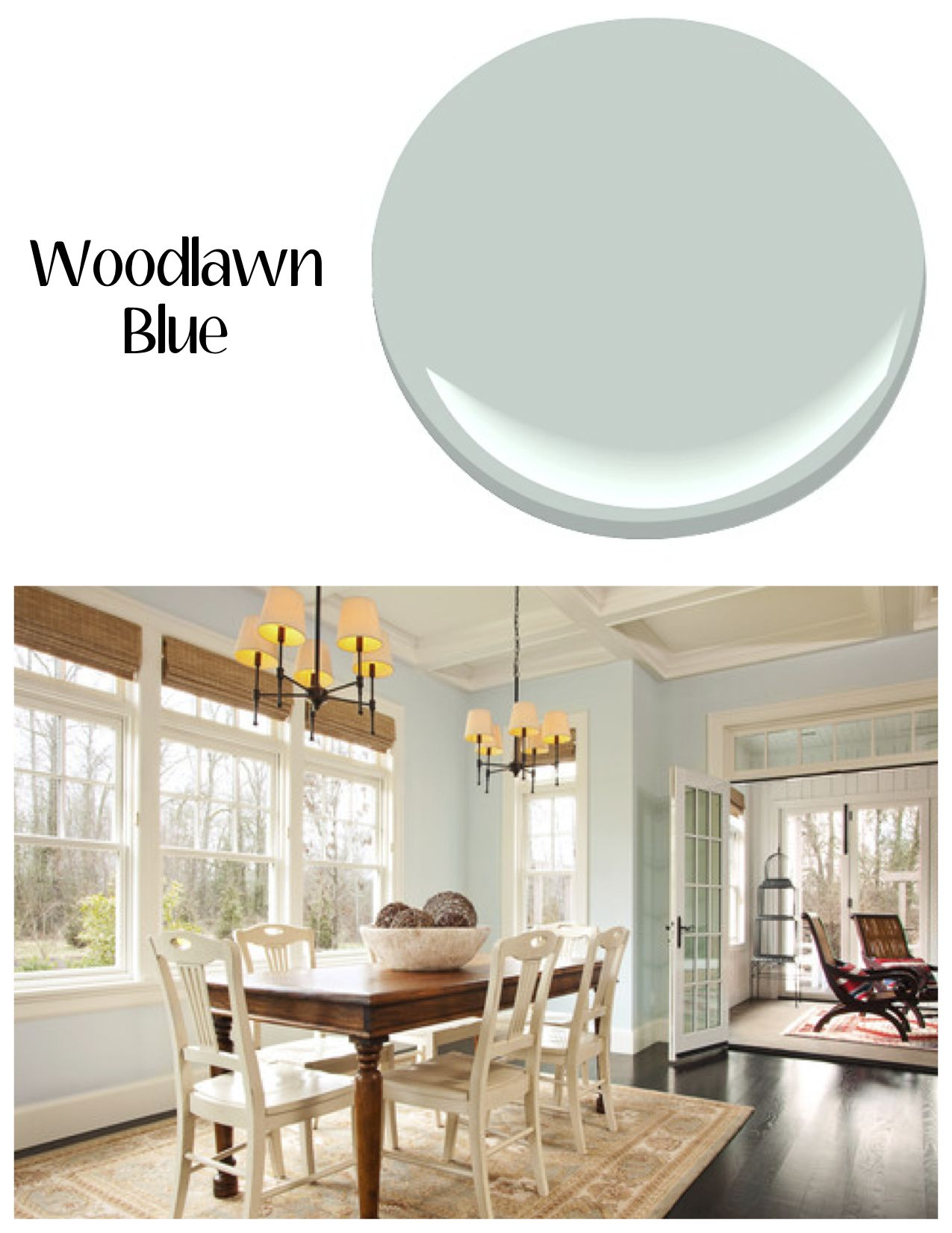 Woodlawn Blue | Our Go To Colors | Pinterest | Woodlawn Blue, Indoor Paint  And Kitchen Updates